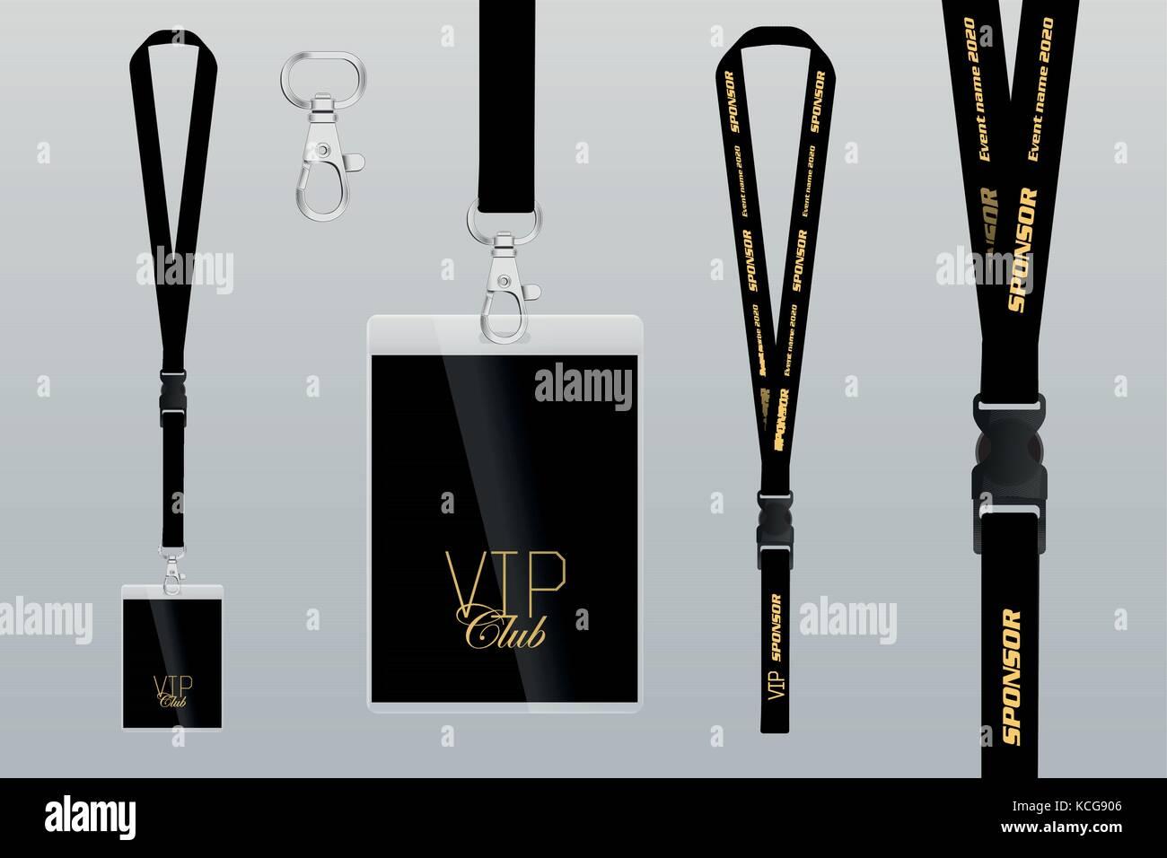 Conjunto de cordón y el monograma. Ejemplo de diseño pase VIP ...