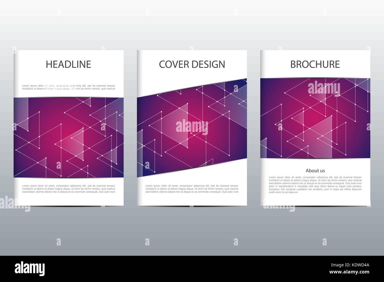Conjunto de vector abstracto abarca plantilla. diseño de folleto ...