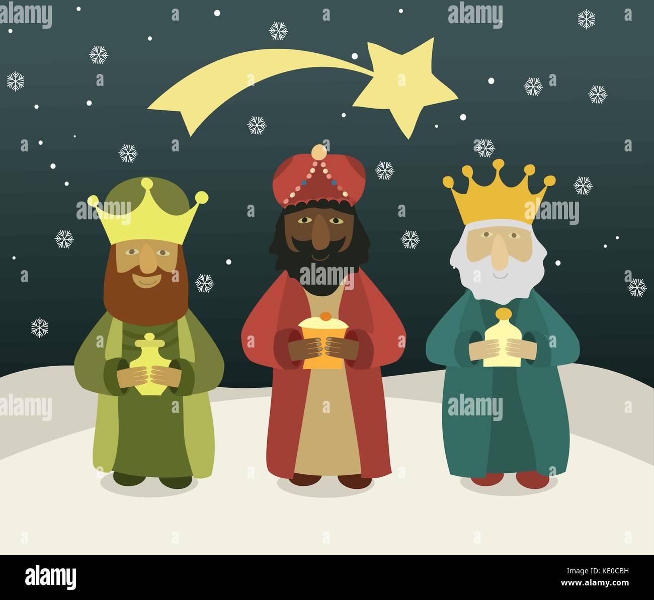 Famoso Tres Hombres Sabios Para Colorear Friso - Enmarcado Para ...
