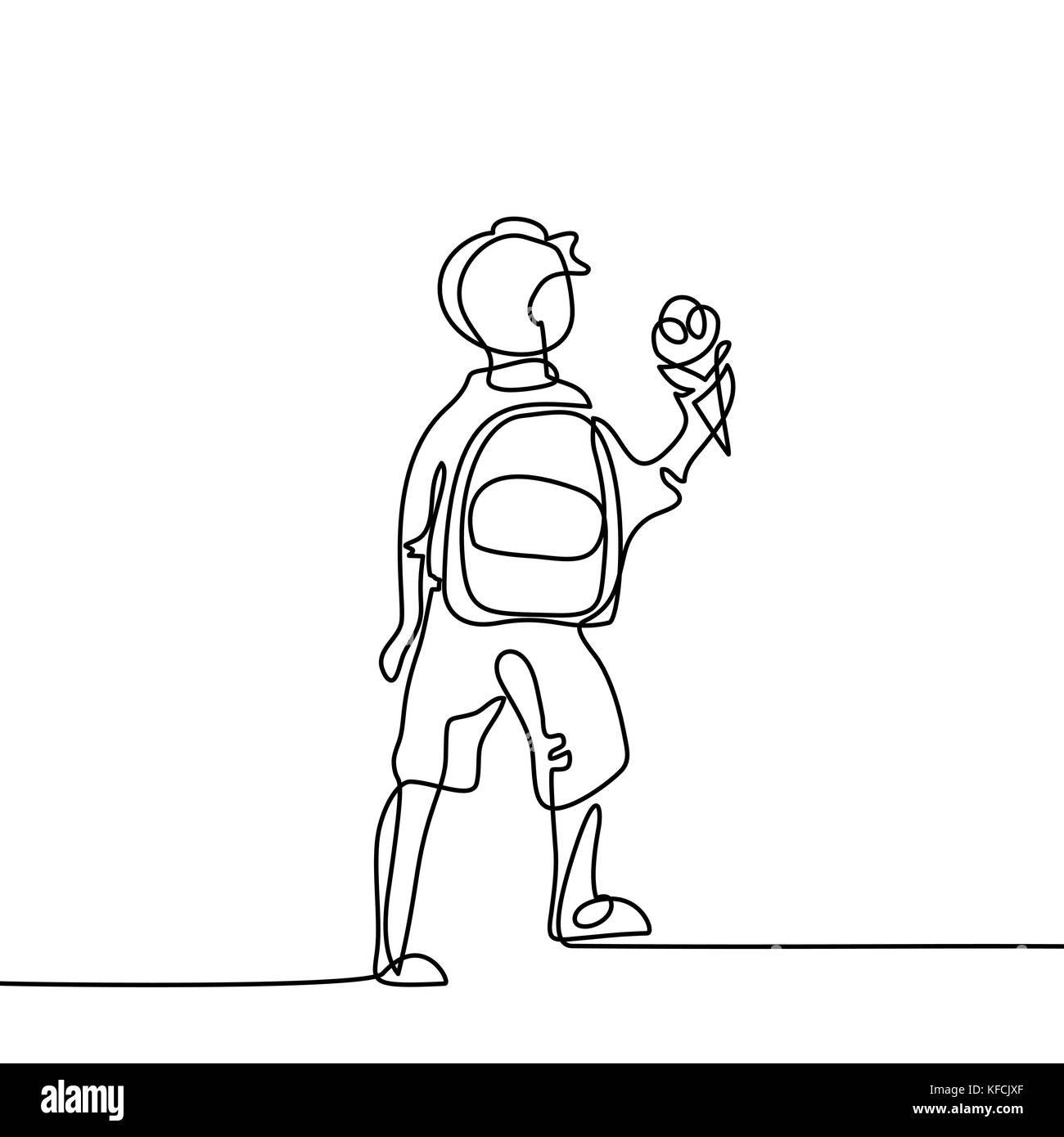 Bag School Pupil Outline Imágenes De Stock & Bag School Pupil ...