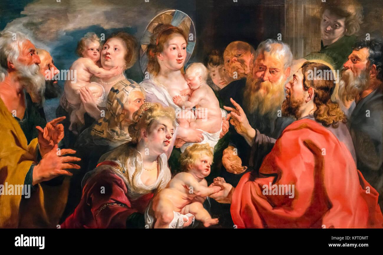 Dejad que los niños vengan a mí (Marcos 10:13-16) por Jacques ...