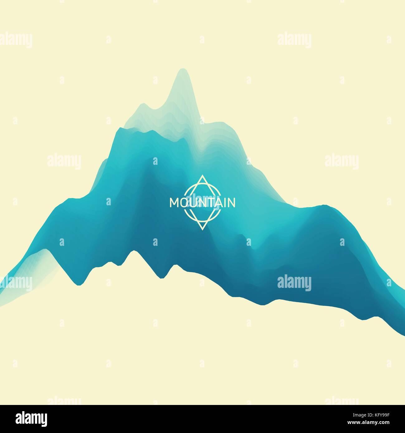 Paisaje de montaña. terreno montañoso. ilustración vectorial para ...