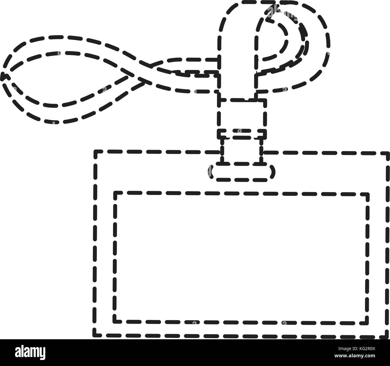 Oficina corporativa id plantilla marca cordón Ilustración del Vector ...