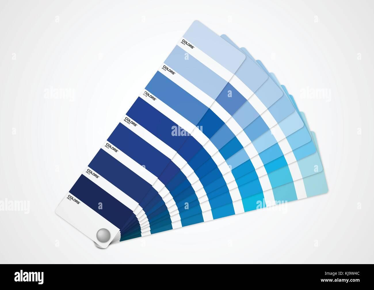 Ilustracion Vectorial De Colores De La Gama Azul Presentacion Guia - Gama-de-azul