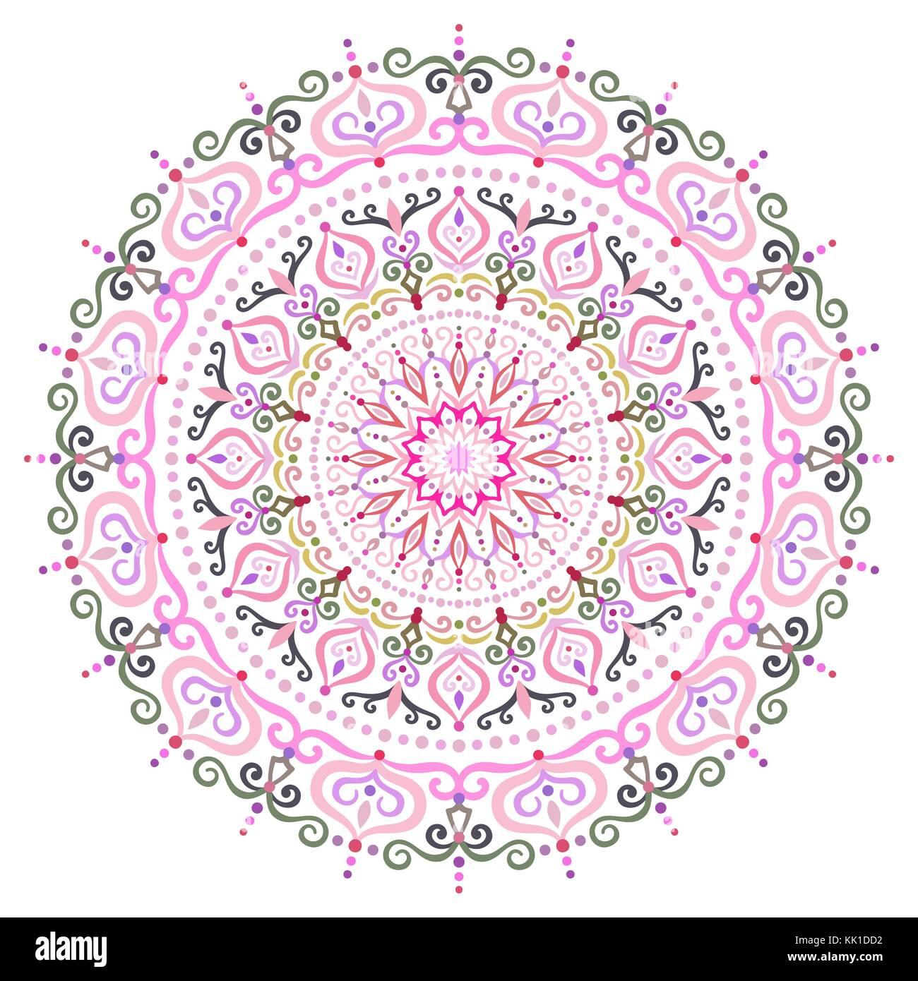 Elemento de diseño intrincado mandala flor Ilustración del Vector ...