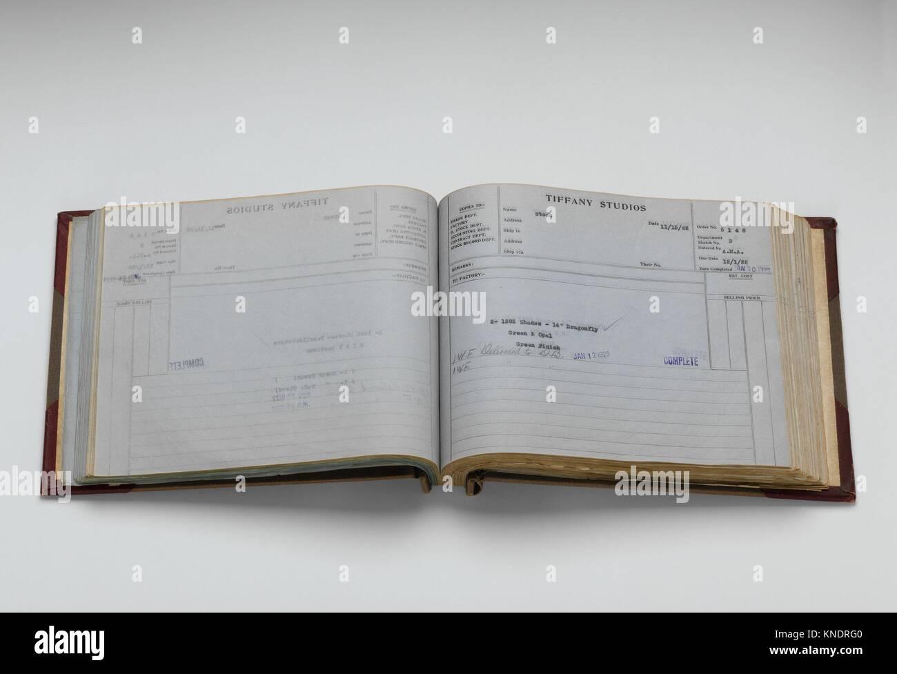 Lámpara Tiffany Studios Departamento Libro de contabilidad. Maker ...
