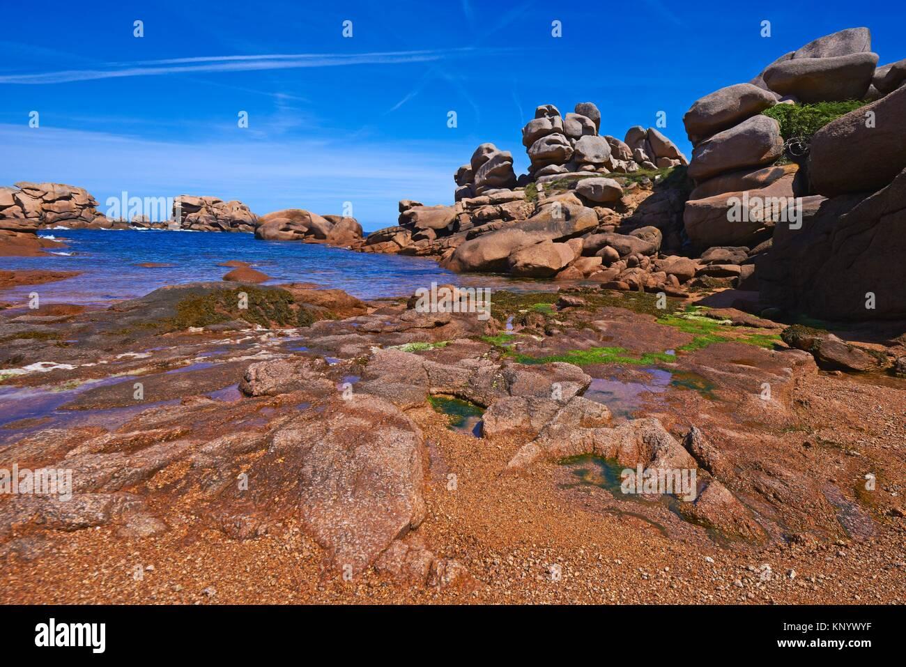 Tregastel formaciones rocosas costa de granito rosa - Comptoir metallurgique de bretagne lannion ...