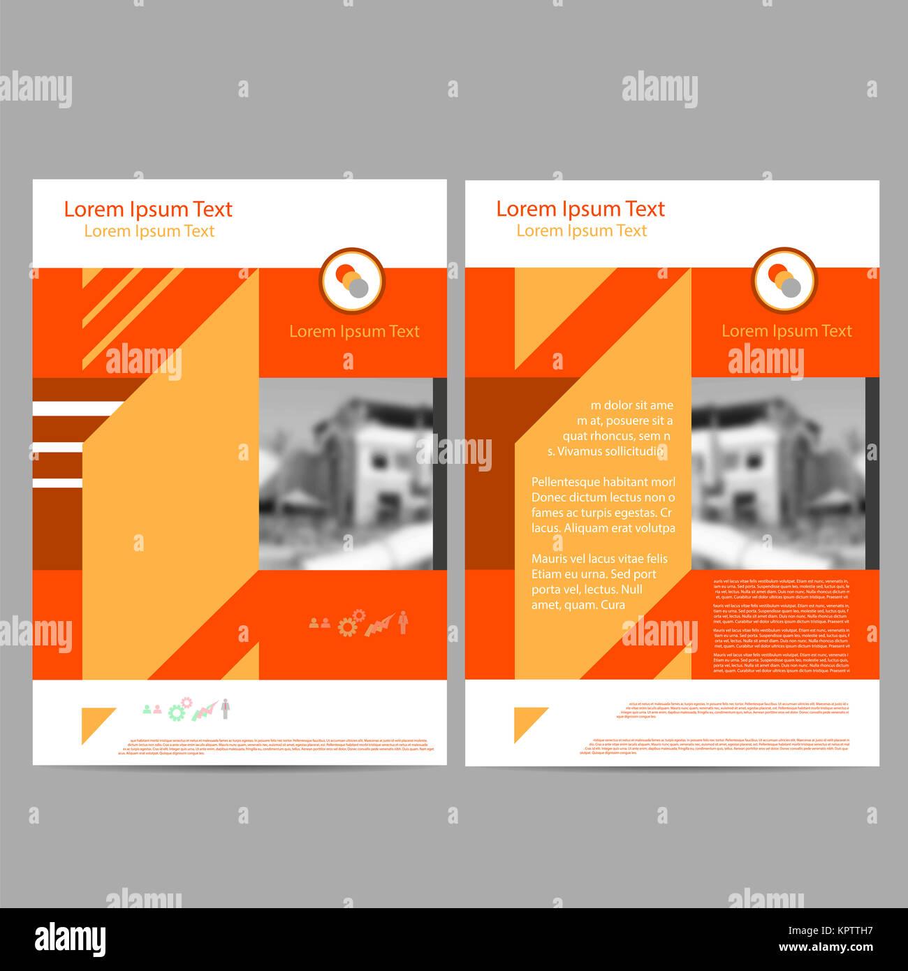 Informe anual Folleto Folleto Flyer plantilla Diseño de tamaño A4 ...