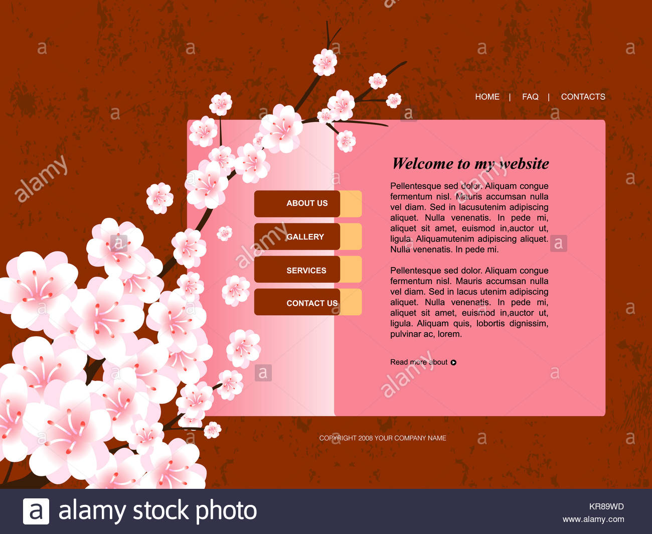 Plantilla de página web, fácil de utilizar en adobe flah o ...