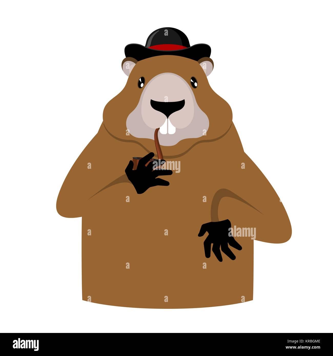Dorable Día De La Marmota Para Colorear Friso - Dibujos de Animales ...