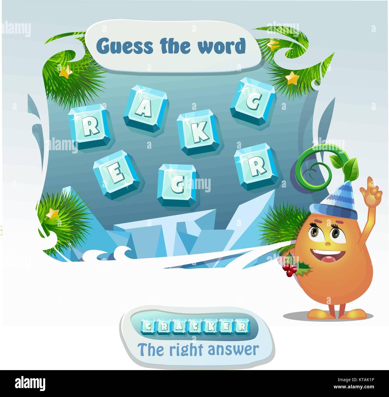 Palabras Educativas Puzzle Juego De Navidad Para Ninos Y Adultos