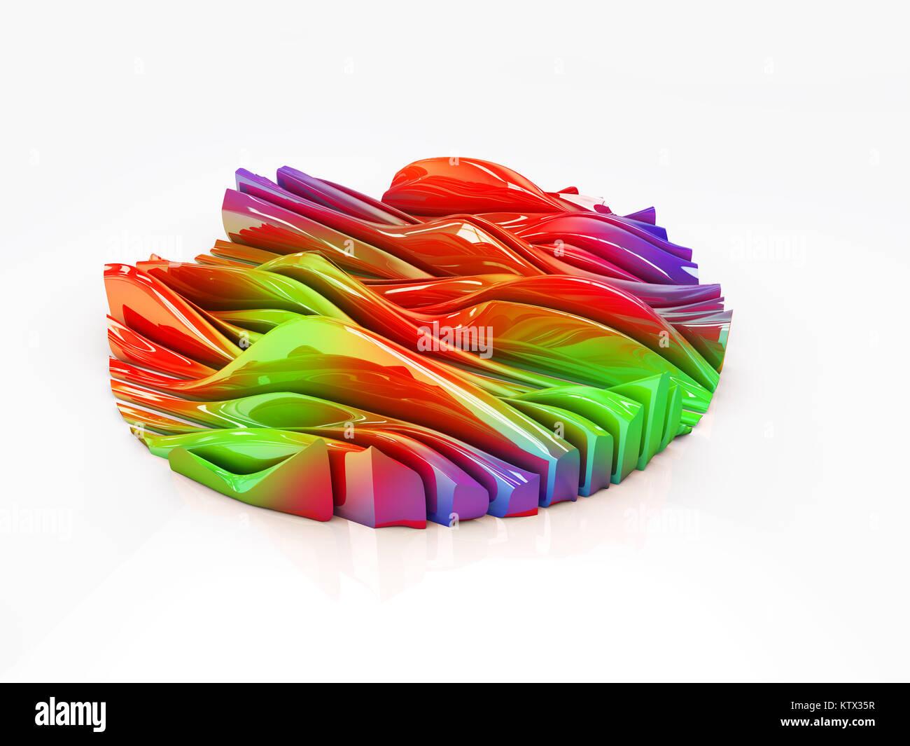 Resumen de diseño del paisaje de color de fondo. Ilustración 3d Foto ...