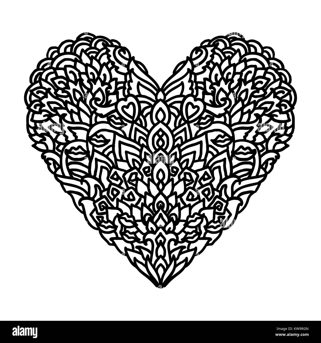 Atractivo Diseño De Corazón Fresco Para Colorear Friso - Dibujos ...