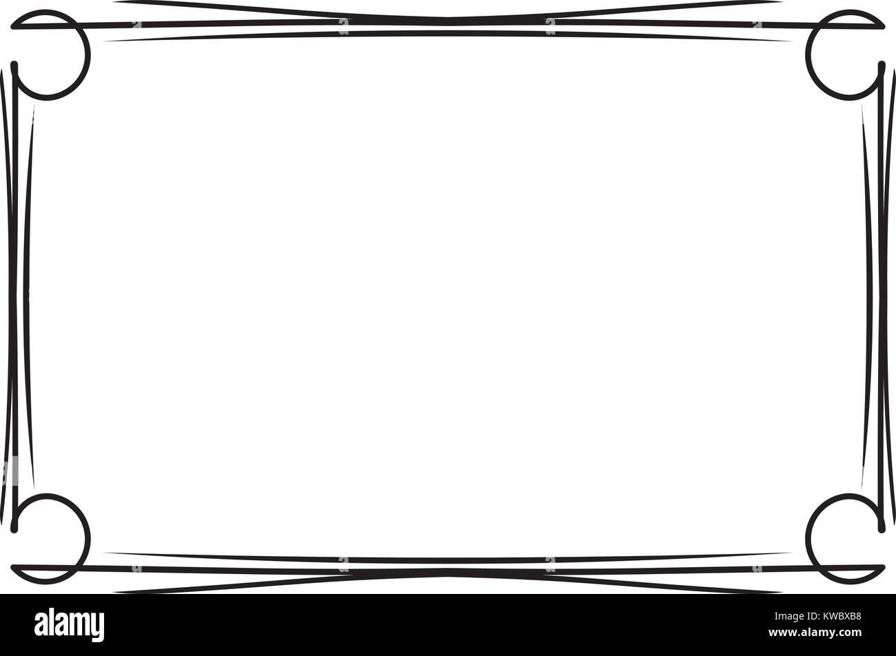 Decorativos clásicos marco negro simple para su texto, menú o ...