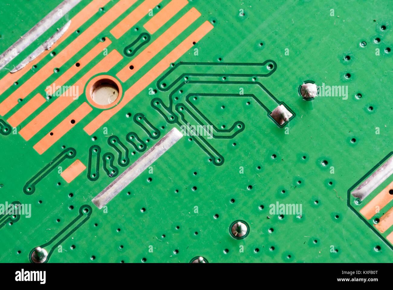 Circuito Impreso : Placa de circuito impreso pcb electrónicos en macro cercano con