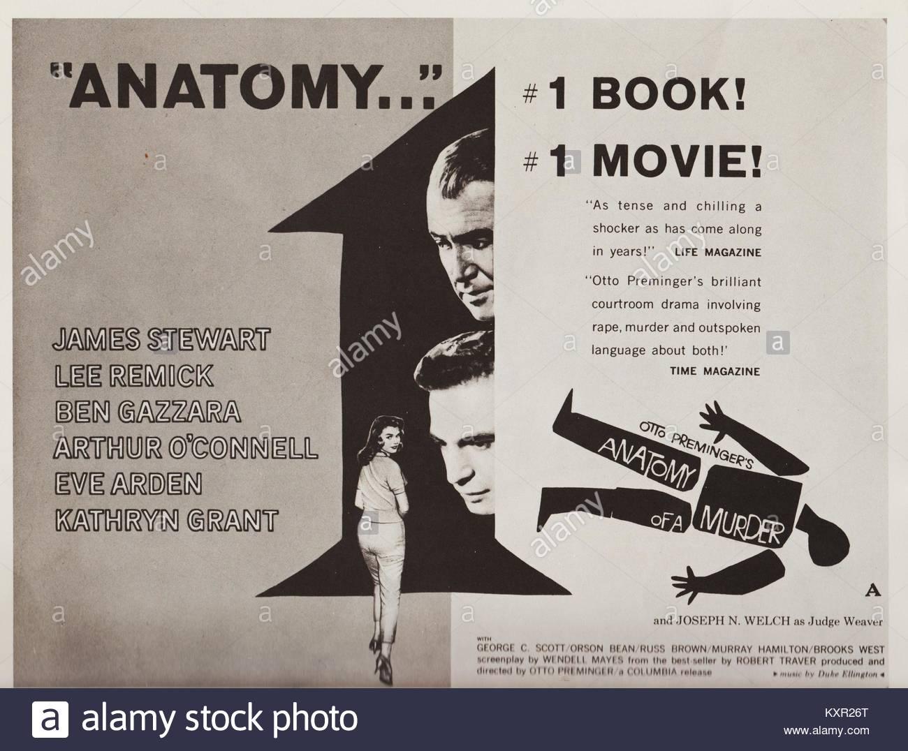 Anatomía de un asesinato, 1959 American película criminal, drama ...