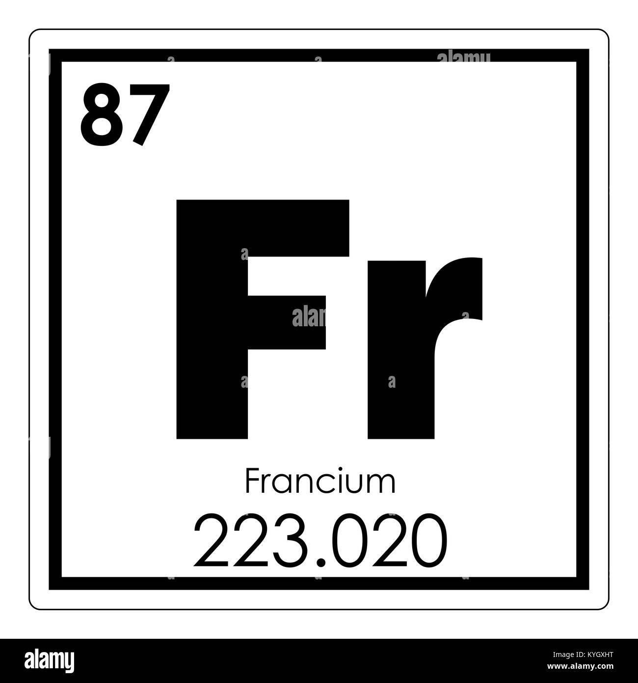 Francio elemento qumico tabla peridica ciencia smbolo foto francio elemento qumico tabla peridica ciencia smbolo urtaz Image collections