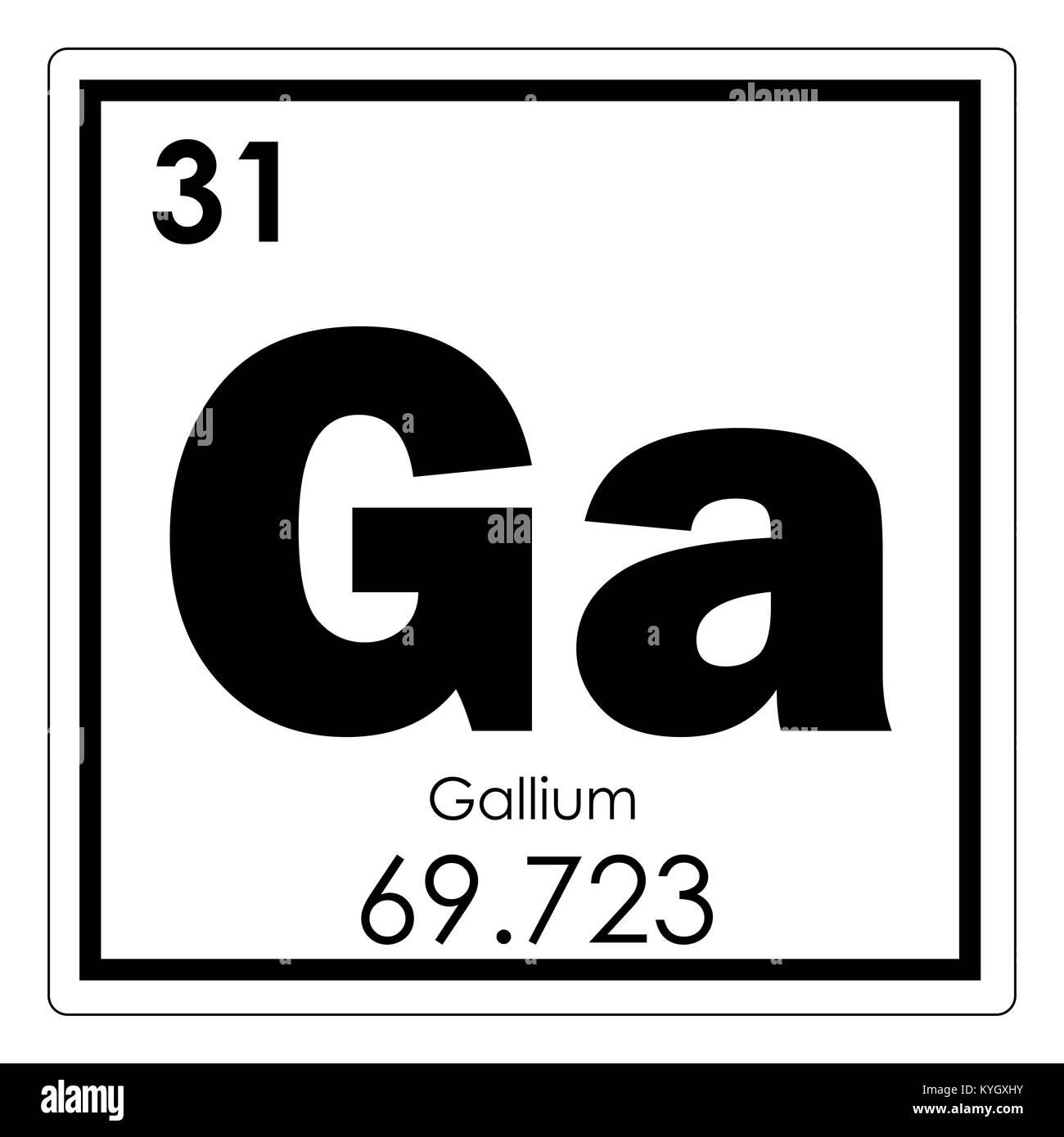 tabla peridica de elementos qumicos galio smbolo de ciencia - Tabla Periodica De Los Elementos Galio