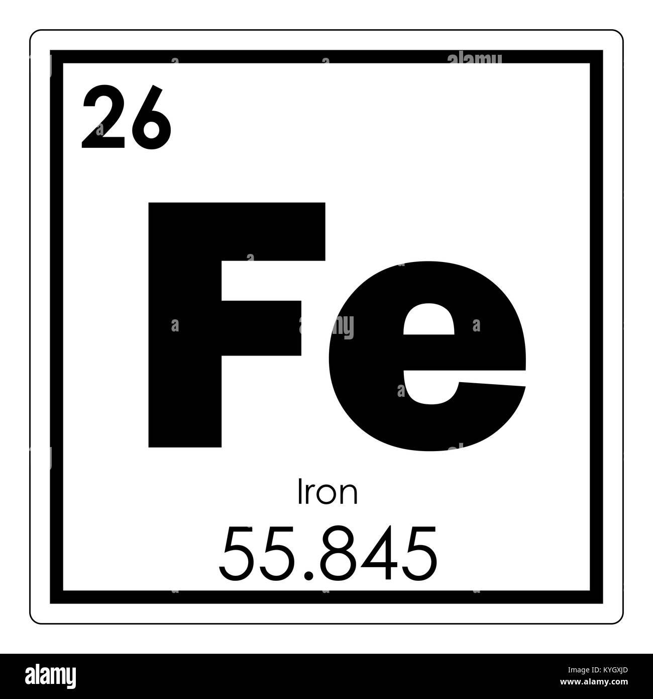 tabla peridica de elementos qumicos de hierro smbolo de ciencia - Tabla Periodica De Los Elementos Hierro