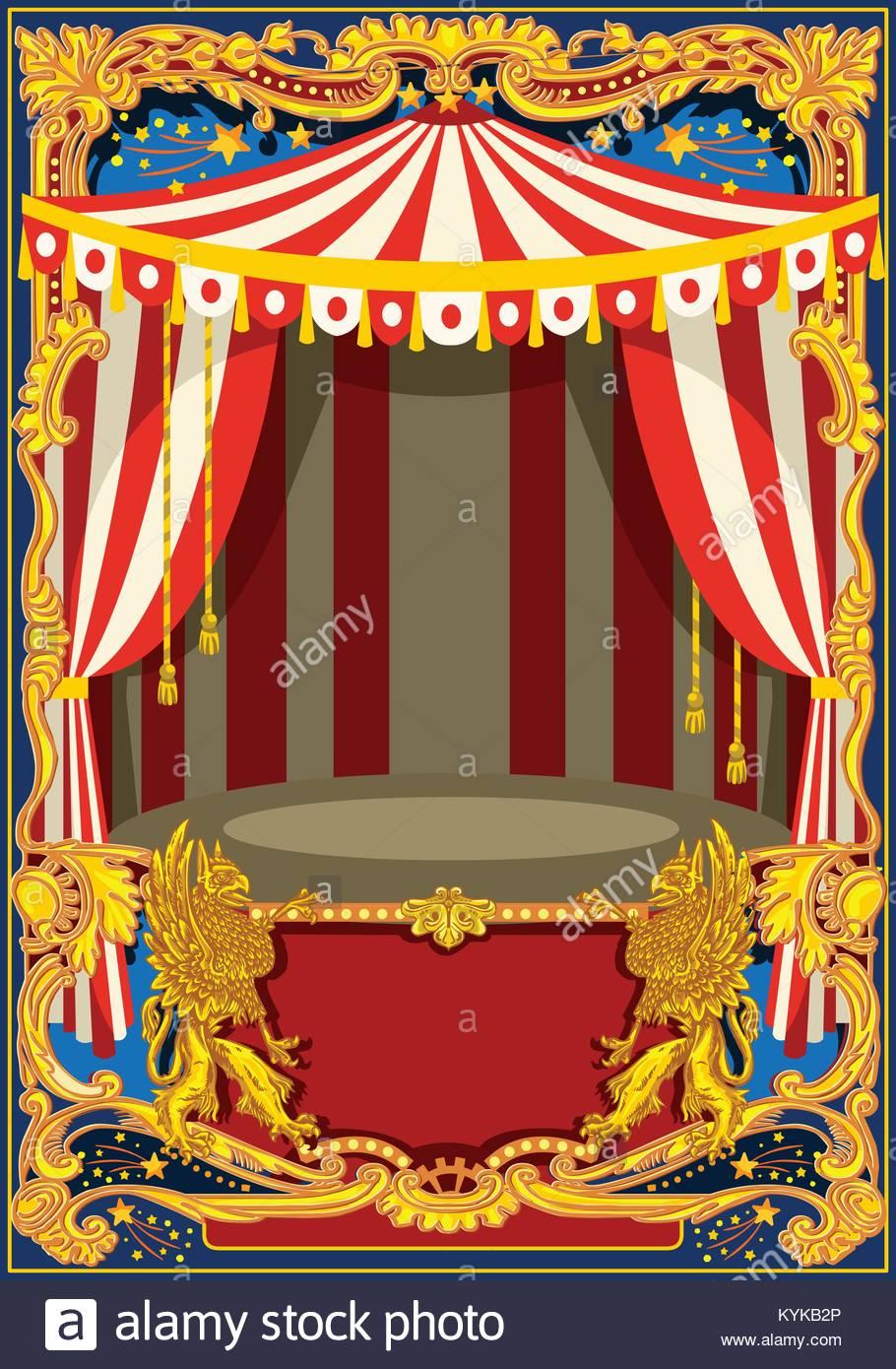 Carnaval poster plantilla. Tema vintage de circo para niños ...