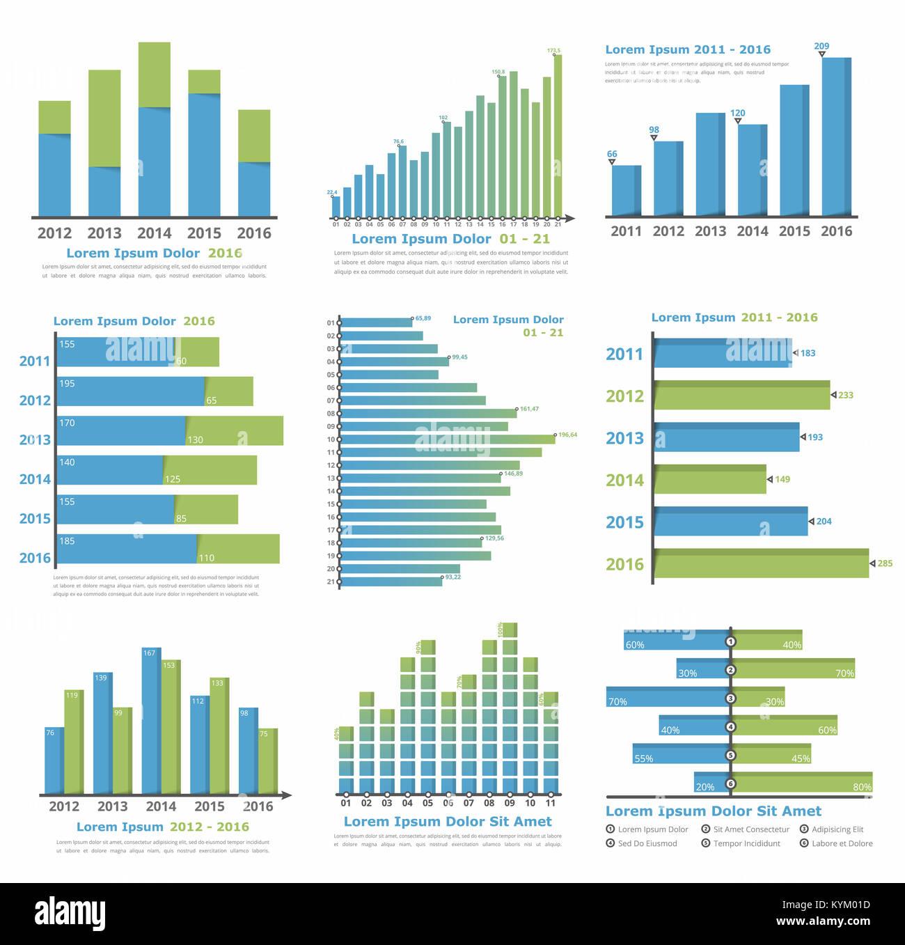 Gráficos y plantillas de gráficas para estadísticas o la ...