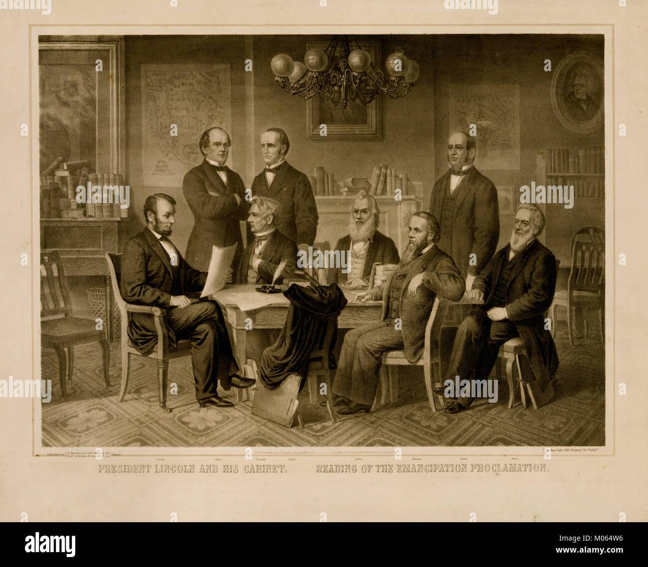 president lincoln emancipation proclamation Stock Photos & president ...