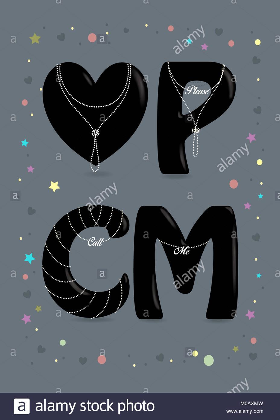 Llame Me. negro de gran corazón y letras - P, C y M. collares de ...