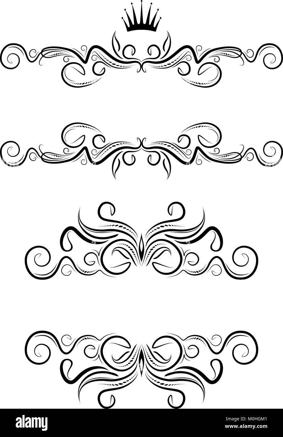 Elegantes marcos de texto. Vector Ilustración del Vector, Imagen ...