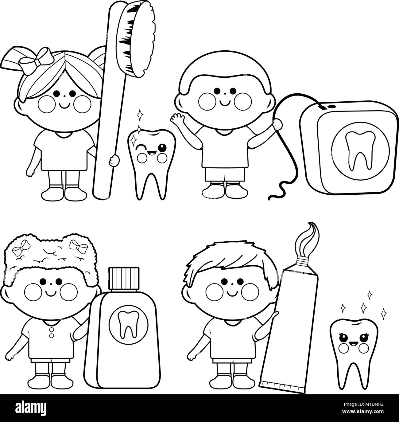 Cartoon Objects Coloring Page Imágenes De Stock & Cartoon Objects ...
