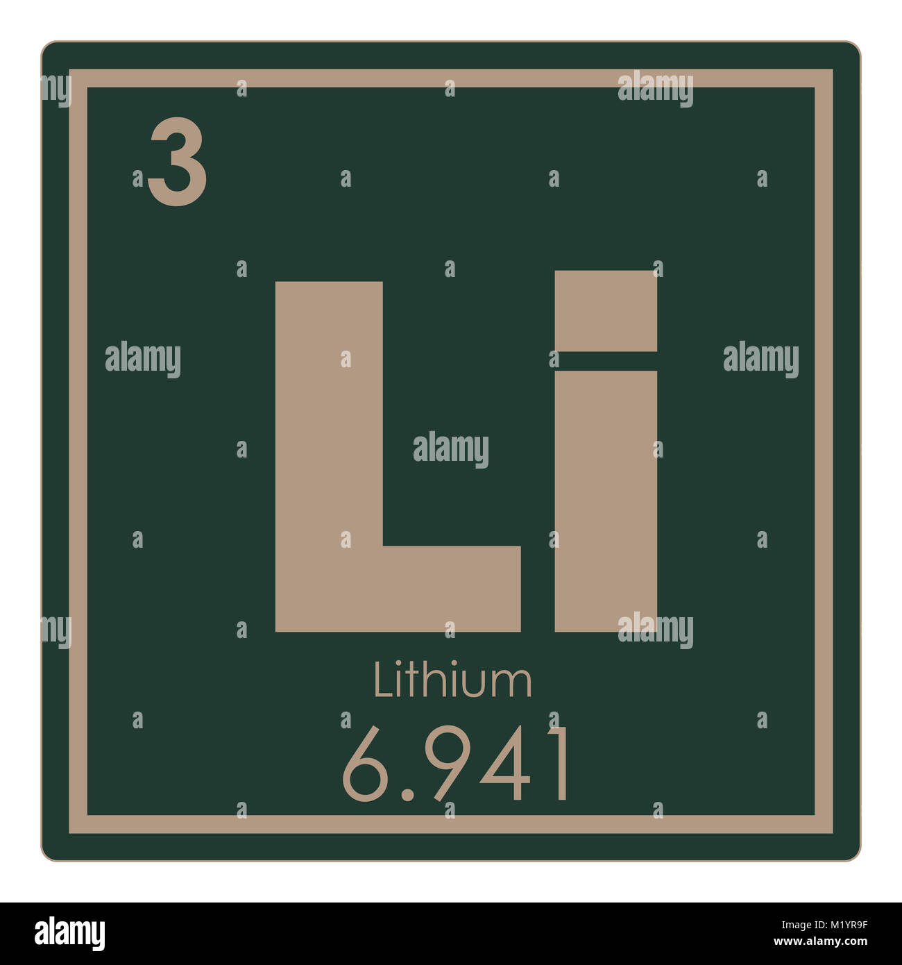 tabla peridica de elementos qumicos de litio ciencia smbolo imagen de stock - Tabla Periodica Litio