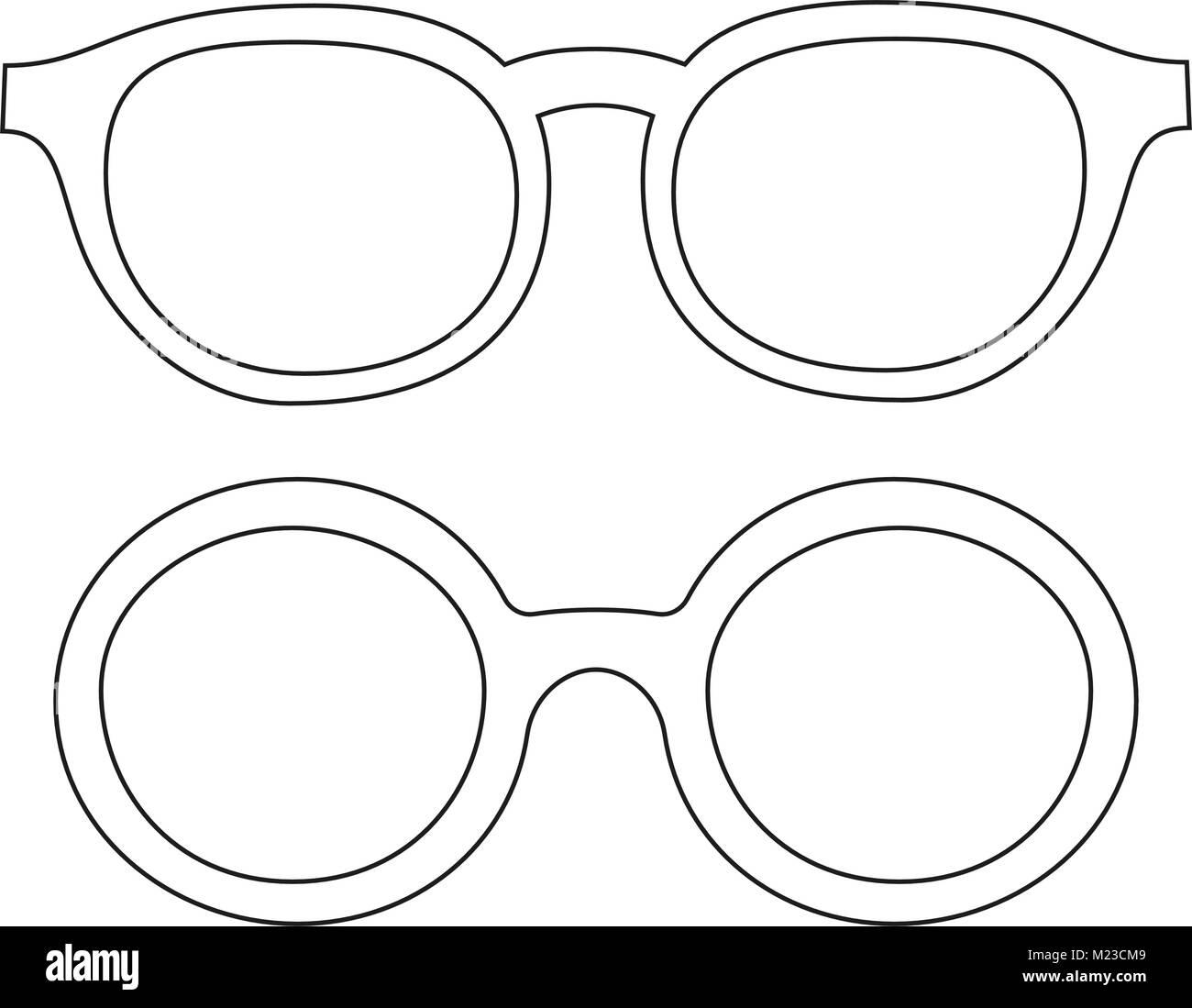 Línea de iconos arte poster hombre padre papá día gafas, anteojos ...