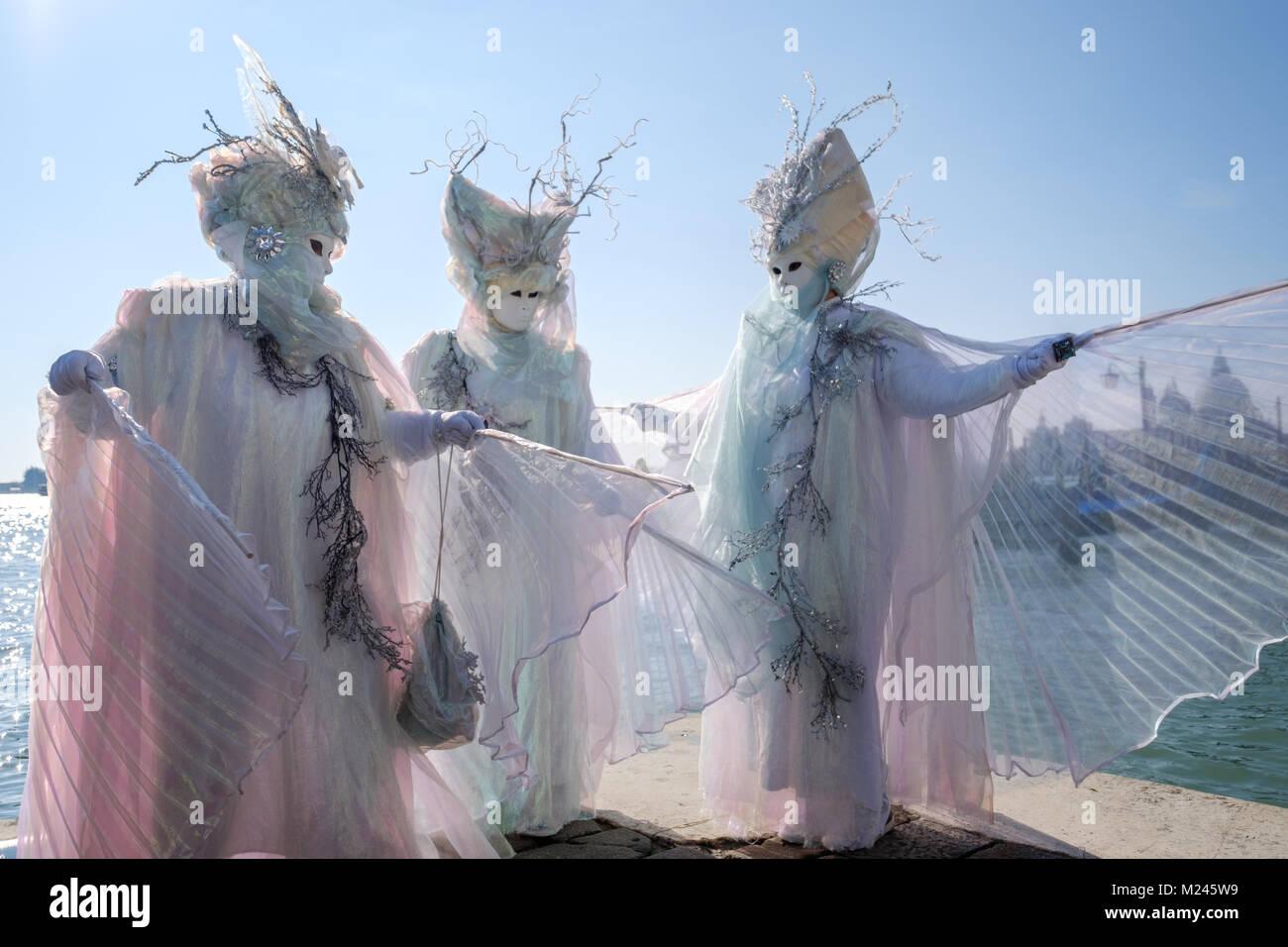Carnaval de Venecia 2018. Tras el acto de apertura del ángel volando ...