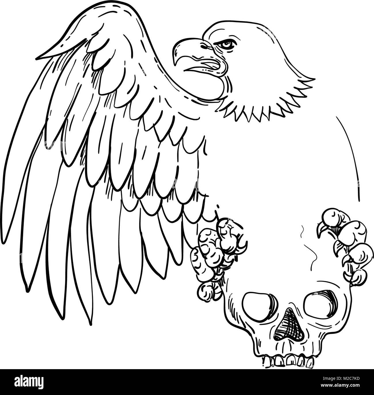 Fantástico Dibujo Para Colorear águila Calva Americana ...