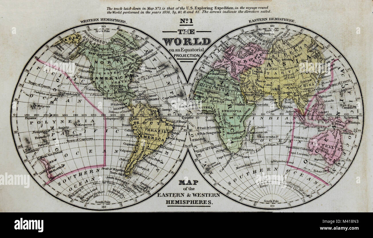 1839 world map mitchell en los hemisferios oriental y occidental 1839 world map mitchell en los hemisferios oriental y occidental frica asia australia norteamrica y sudamrica gumiabroncs Choice Image