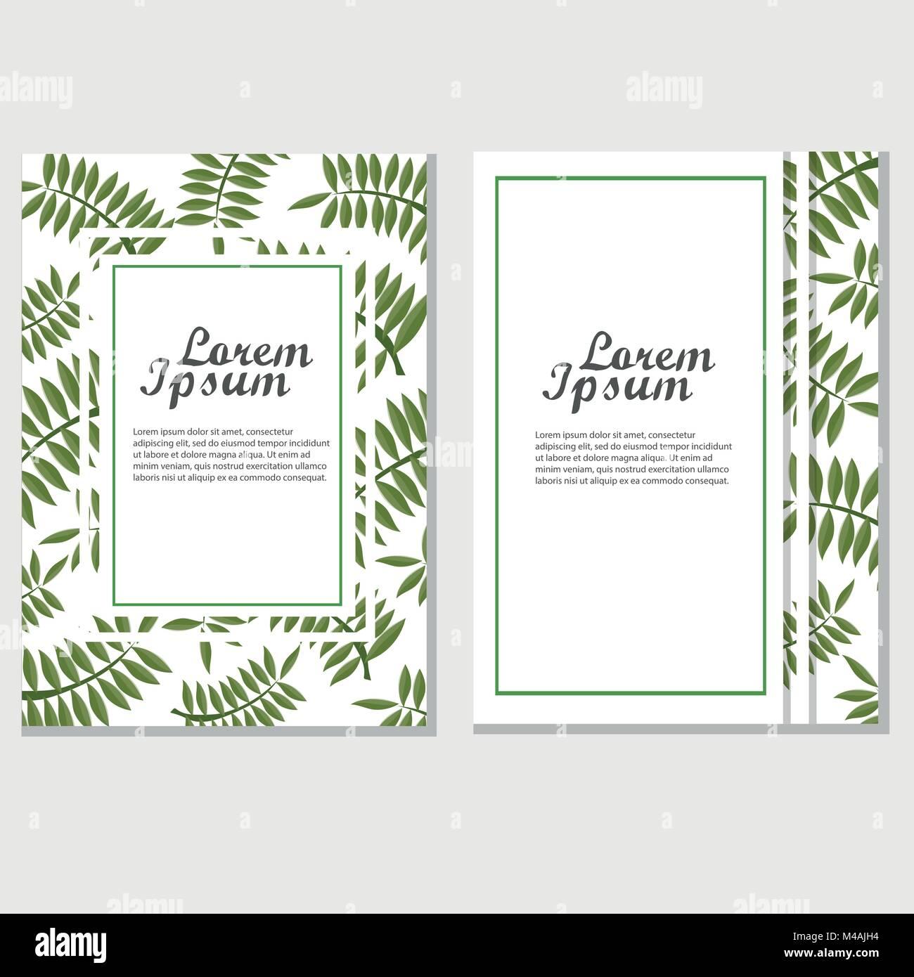 Folleto Eco diseño plantilla vectorial. Póster corporativo con hojas ...