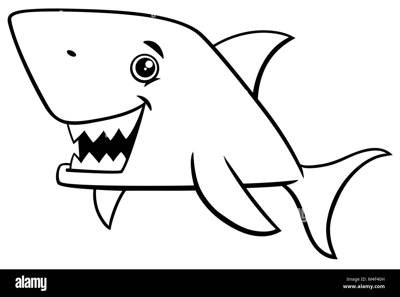 Moderno Significa Grandes Páginas De Colorear De Tiburón Blanco ...