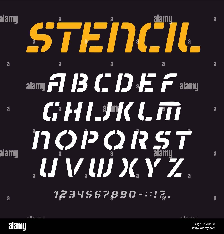 Fuente patrón geométrico, alfabeto, colección de cartas mínimo ...