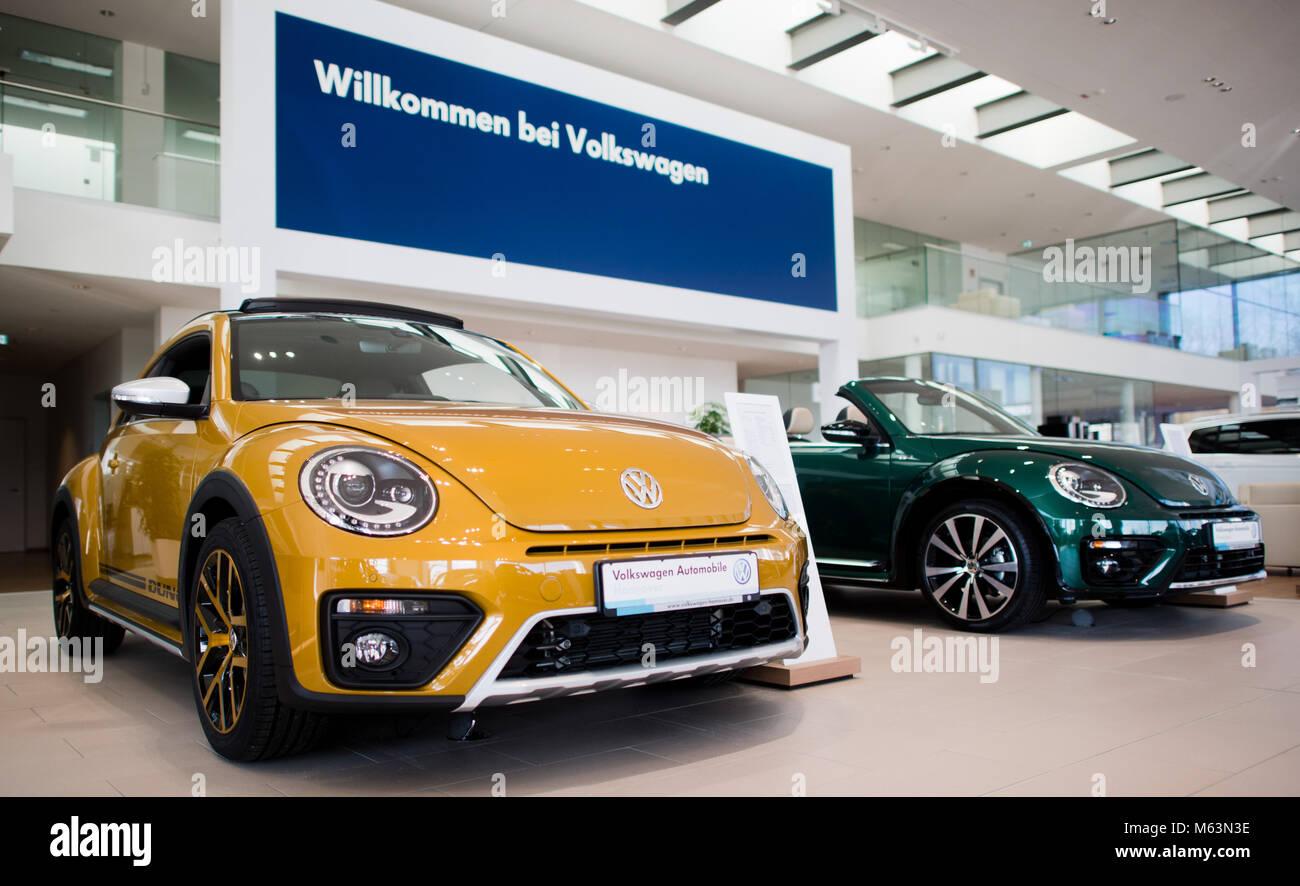 23 De Febrero De 2018 En Alemania En Hannover Autos Nuevos Estan