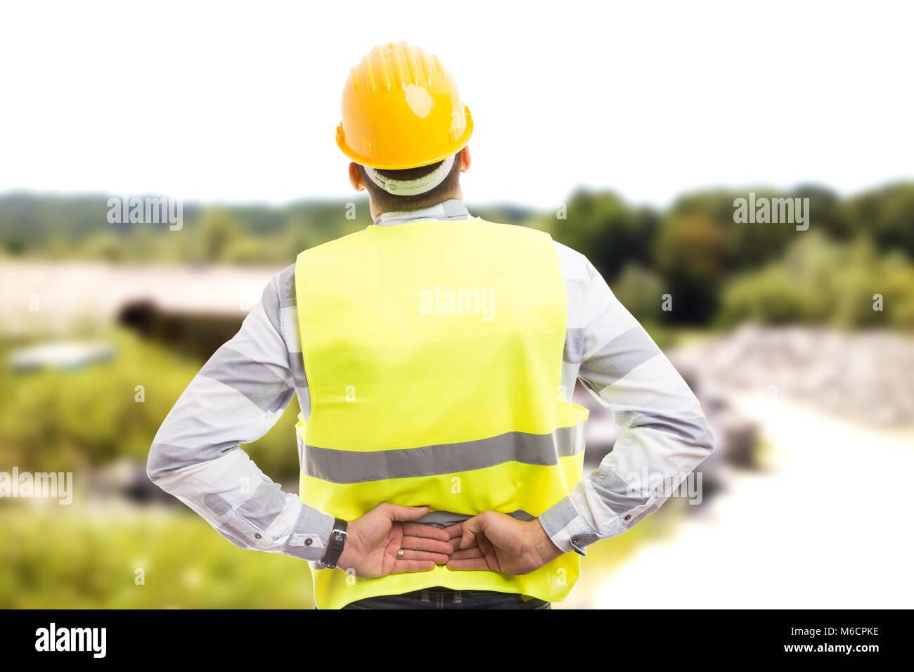 Trabajador de construcción lesionado o ingeniero que sufren ...