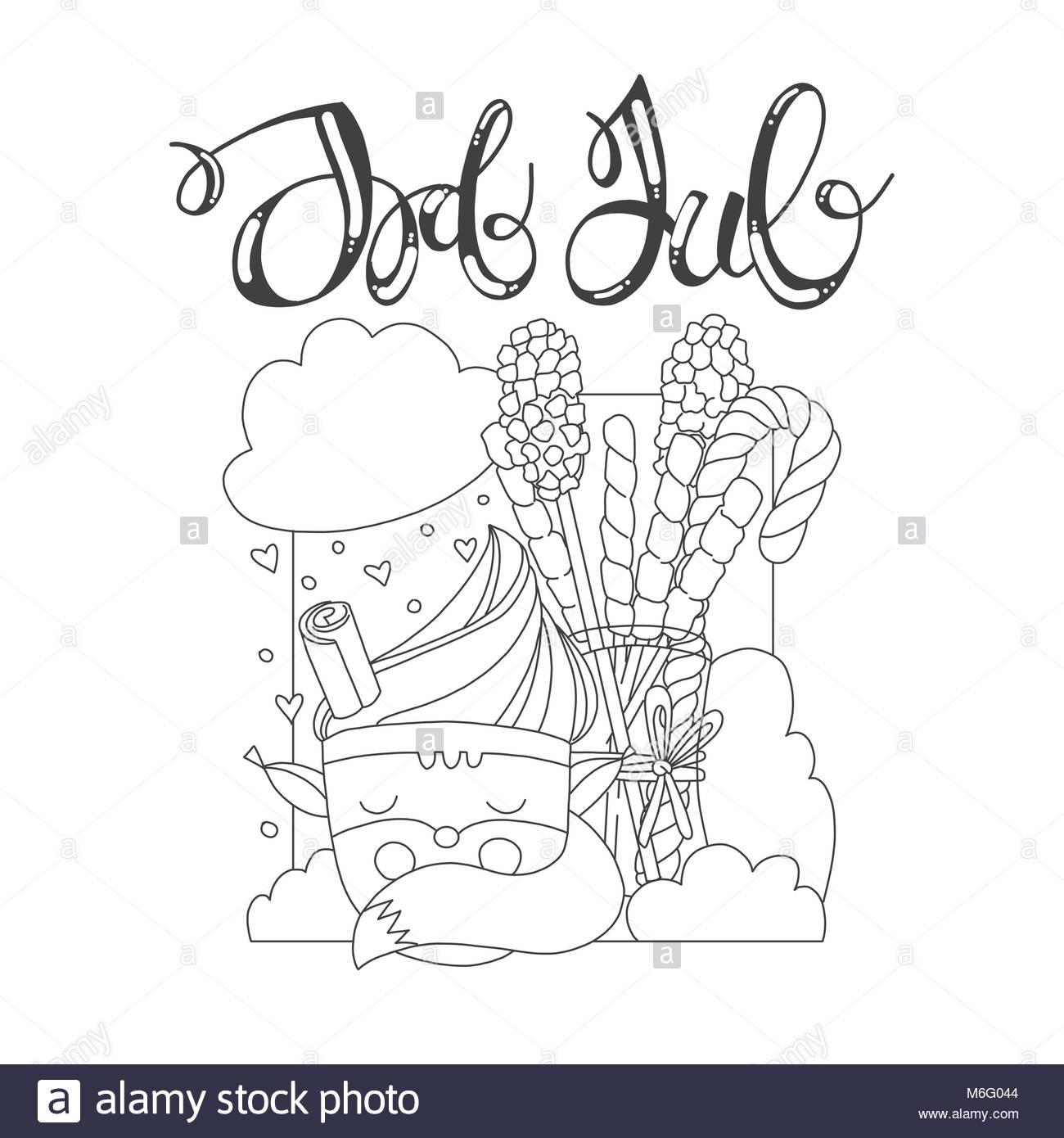 Página para colorear con el tema de Navidad. Tarjeta de navidad con ...