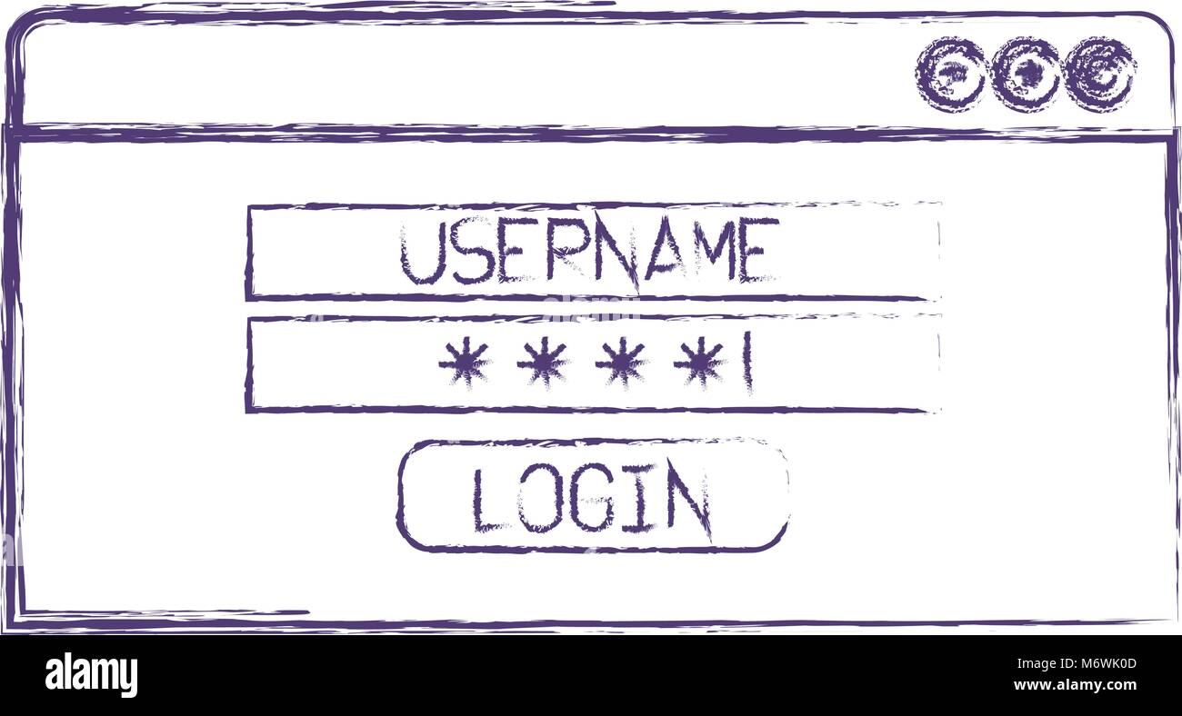 Login plantilla icono aislado Ilustración del Vector, Imagen ...