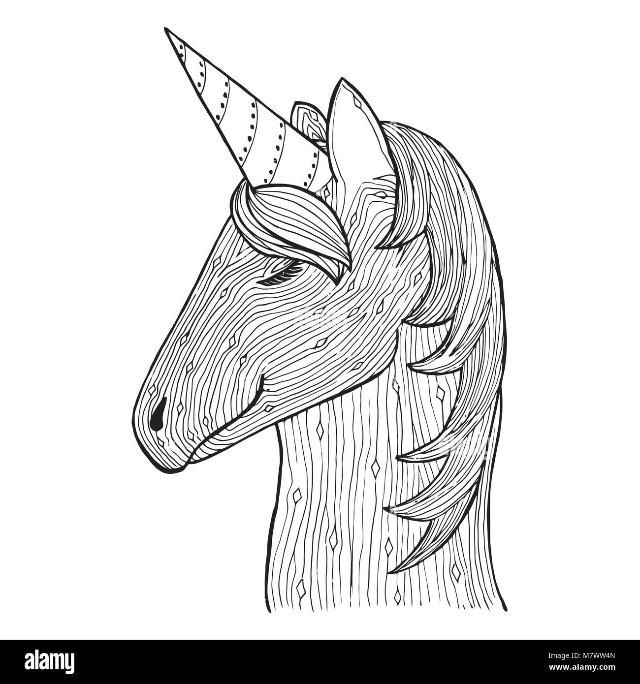 Atractivo Unicornio Miserable Para Colorear Bandera - Dibujos Para ...