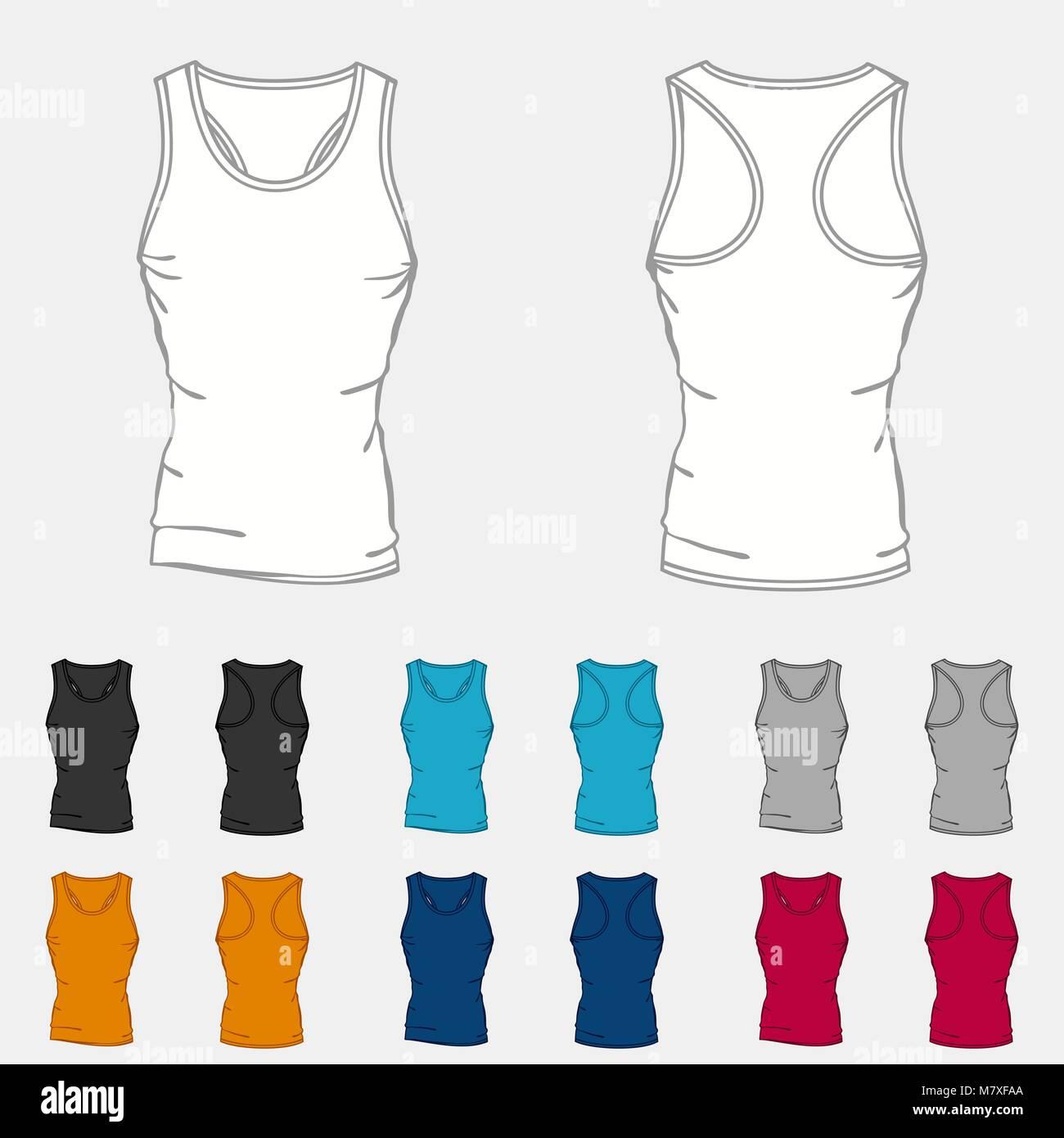 Conjunto de camiseta de tirantes Color plantillas para hombres ...