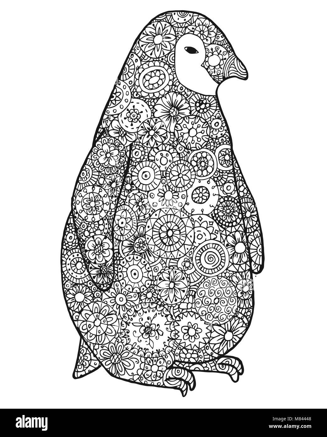 Maraña de patrón y el pingüino. Animales silvestres. Página para ...