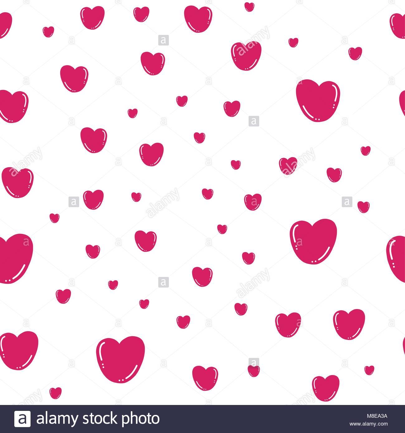 Patrón sin fisuras con los corazones. Efecto 3D. Modelo Simple con ...