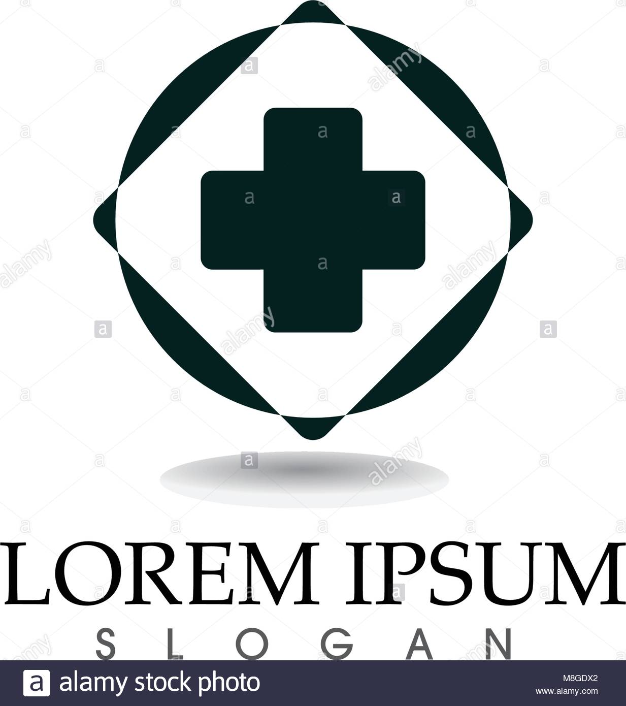 Logotipo del hospital y símbolos app vector plantillas de iconos ...