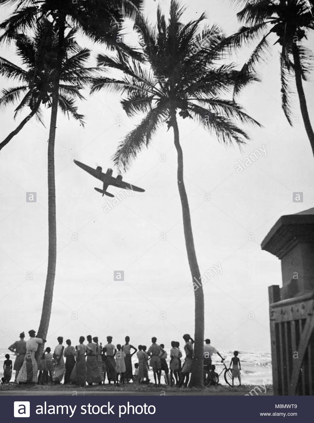 Ceilán bajo el ala de la RAF bombarderos británicos mantener ...