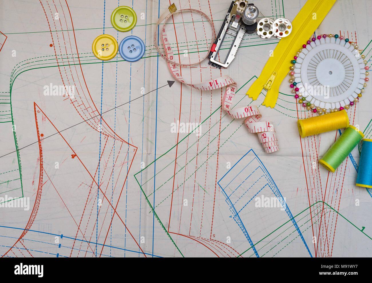 Accesorios de costura para las herramientas de copia de patrones de ...