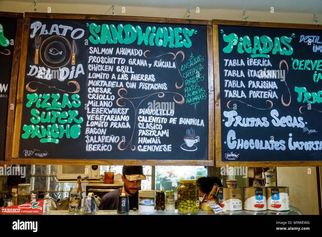 Buenos Aires Restaurant Menu Imágenes De Stock & Buenos Aires ...