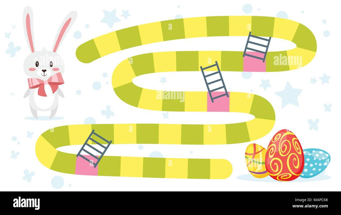 Vector ilustración de estilo de dibujos animados para niños Juego de ...